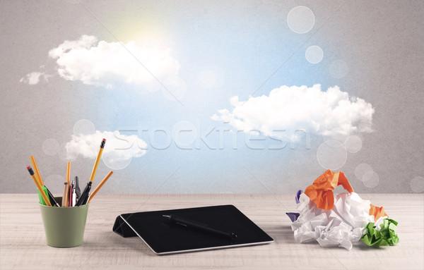 ярко небе облака бизнеса Сток-фото © ra2studio
