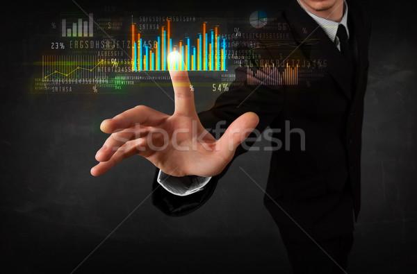 小さな 事業者 触れる カラフル チャート ダイアグラム ストックフォト © ra2studio