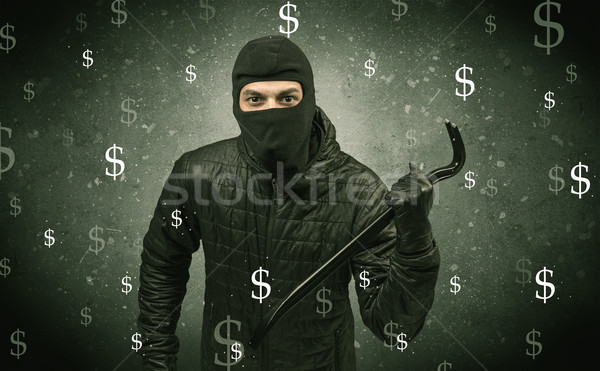 Money hungry thief. Stock photo © ra2studio