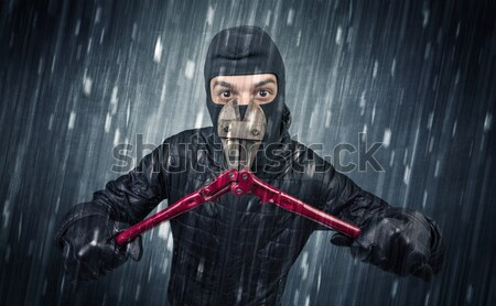Aggressive hunter in abandoned graveyard concept Stock photo © ra2studio