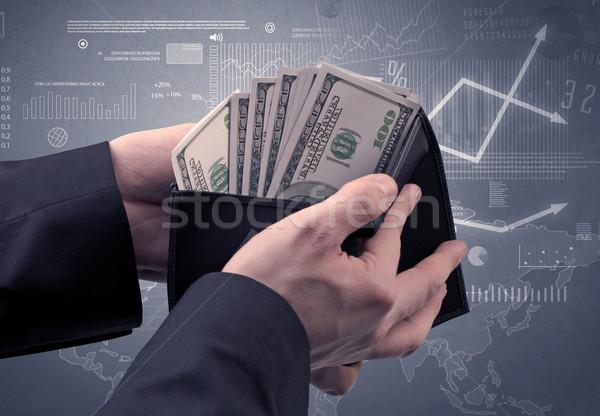 ビジネスマン 手 外に ドル ウォレット 金融 ストックフォト © ra2studio