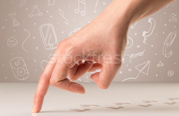 Walking fingers c Stock photo © ra2studio