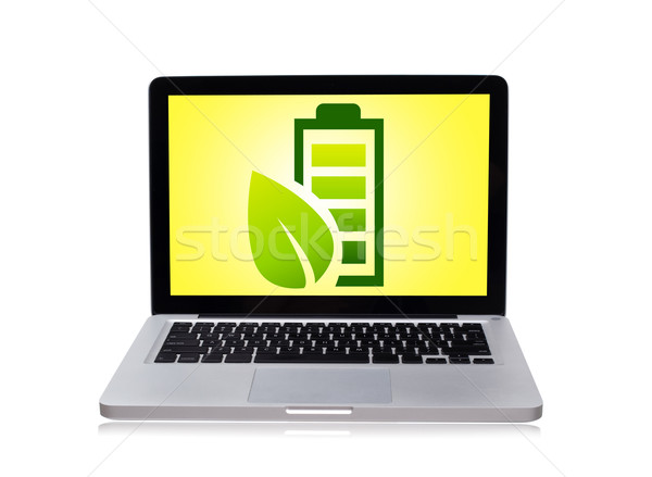 eco laptop Stock photo © ra2studio