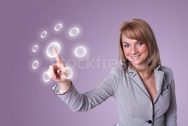 女性 デジタル ボタン 手 キーボード ストックフォト © ra2studio