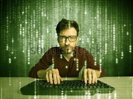 On-line hackers progresso banco de dados Foto stock © ra2studio