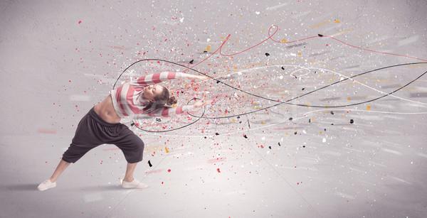 городского танцы линия Splatter молодые современный Сток-фото © ra2studio