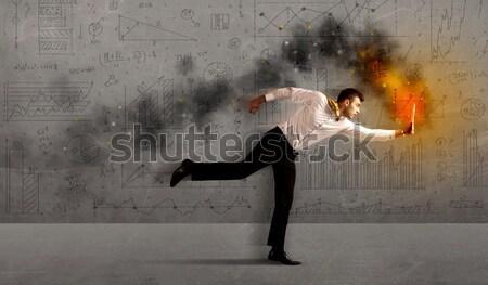 を実行して ビジネスマン 手 ビジネス ストックフォト © ra2studio