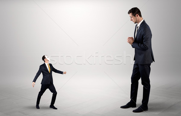 Conflict between small and big businessman Stock photo © ra2studio