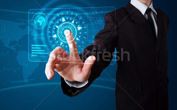 Stockfoto: Zakenman · hoog · tech · type · moderne