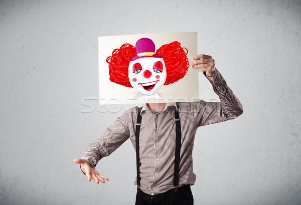 Biznesmen tektury clown młodych szczęśliwy Zdjęcia stock © ra2studio