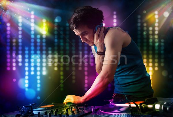 Photo stock: Jouer · disco · lumière · montrent · jeunes · fête