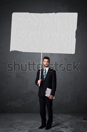 Affaires livret papier jeunes grand Photo stock © ra2studio