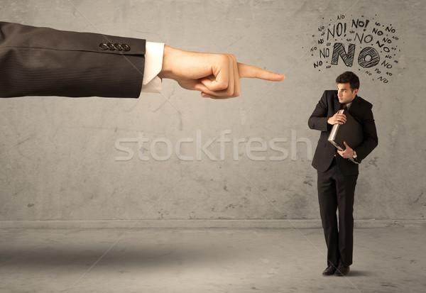 Főnök kéz kezdő eladó fiatal alkalmazott Stock fotó © ra2studio
