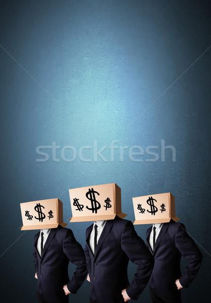 ハンサム 男性 スーツ ドル記号 ストックフォト © ra2studio