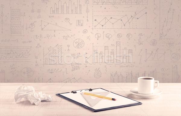 Grafik tasarımcı beyaz Stok fotoğraf © ra2studio