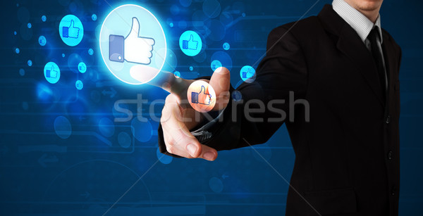 Yakışıklı kişi düğme modern Stok fotoğraf © ra2studio