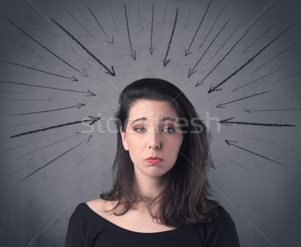 girl with funny facial expression Stock photo © ra2studio