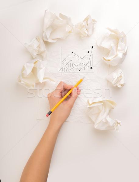Дать стороны бумаги женщины Сток-фото © ra2studio