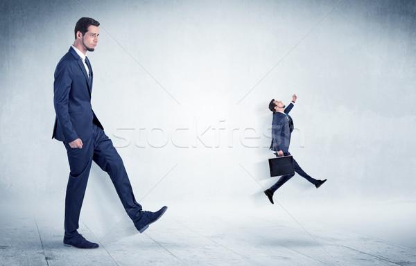 большой бизнесмен небольшой Flying далеко Сток-фото © ra2studio