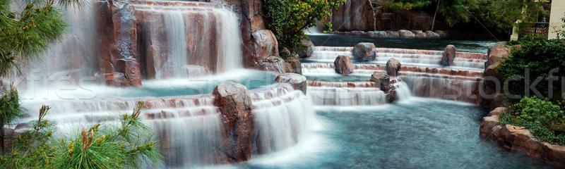 Foto stock: Cachoeira · panorama · Las · Vegas · montanha · hotel · viajar