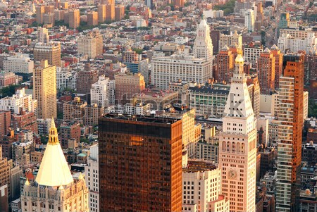 Manhattan skyline New York City wolkenkrabbers luchtfoto stad Stockfoto © rabbit75_sto