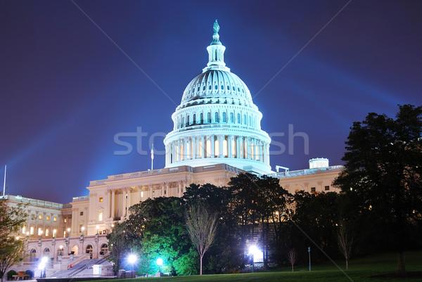 Colina edifício Washington DC noite luz Foto stock © rabbit75_sto