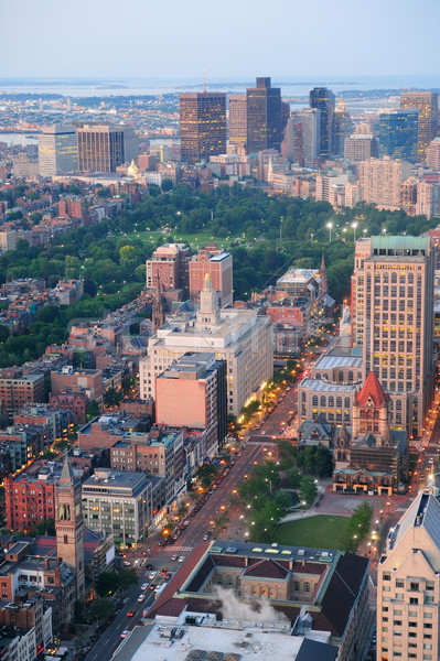 Сток-фото: Бостон · город · центра · городского · исторический