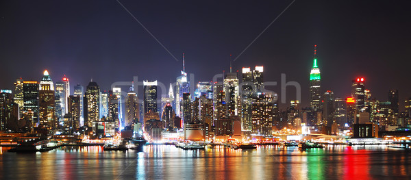 NEW YORK CITY NIGHT SKYLINE PANORAMA  Stock photo © rabbit75_sto