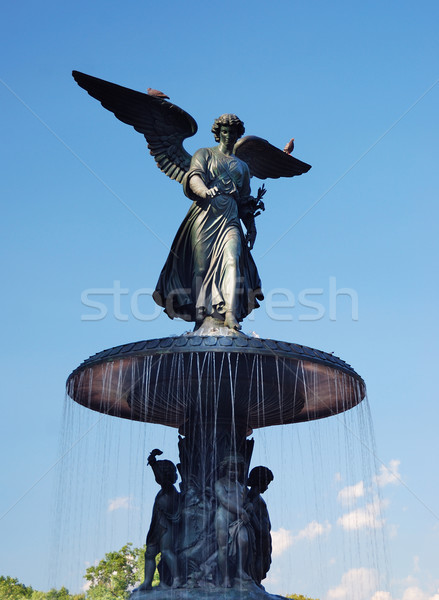 New York City Central Park anjo estátua terraço fonte Foto stock © rabbit75_sto