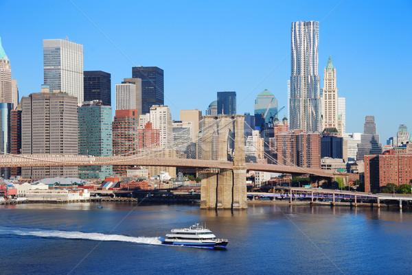 New York City skyline with Brooklyn Bridge  Stock photo © rabbit75_sto