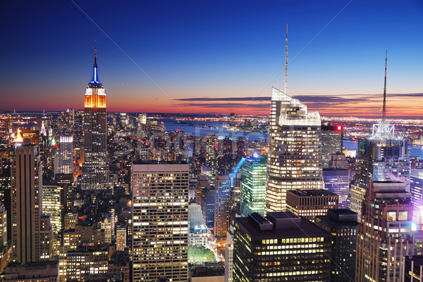 New York City Manhattan Empire State Building and Times Square Stock photo © rabbit75_sto