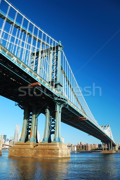 New York City Manhattan pont gratte-ciel Skyline matin Photo stock © rabbit75_sto