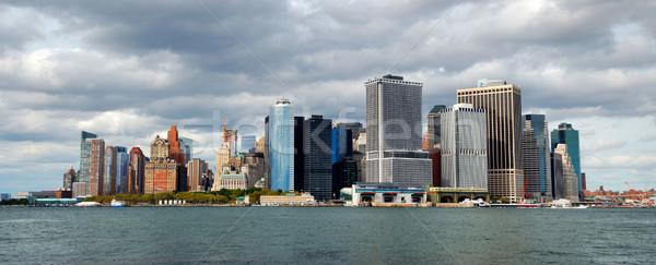 New York City Manhattan downtown skyline Stock photo © rabbit75_sto