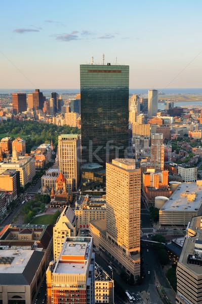 Boston urbana città grattacieli tramonto Foto d'archivio © rabbit75_sto