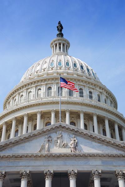 Banderą Hill Washington DC pływające budynku domu Zdjęcia stock © rabbit75_sto