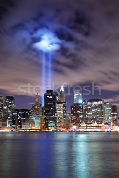 New York City 11 de setembro manhattan panorama ver noite Foto stock © rabbit75_sto