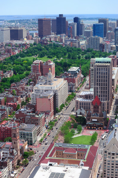 Boston Street aerial view Stock photo © rabbit75_sto
