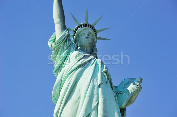 Stock fotó: Szobor · hörcsög · közelkép · New · York · Manhattan · kék · ég