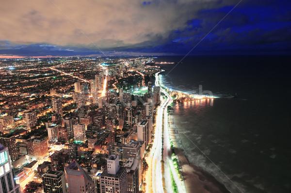 Chicago linha do horizonte panorama arranha-céus lago Foto stock © rabbit75_sto