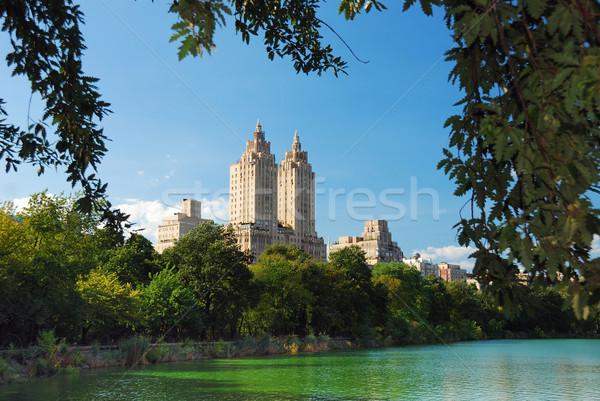 ニューヨーク市 マンハッタン セントラル·パーク 都市 スカイライン 高層ビル ストックフォト © rabbit75_sto