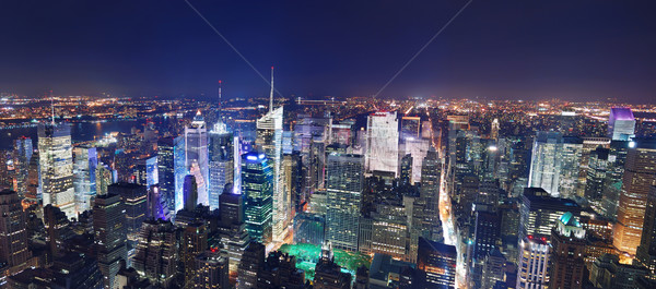 Nueva York Manhattan Times Square panorama noche Foto stock © rabbit75_sto