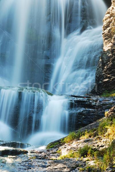 Cachoeira rochas outono montanha mata árvore Foto stock © rabbit75_sto