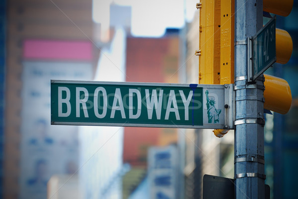Broadway road sign in Manhattan New York City Stock photo © rabbit75_sto