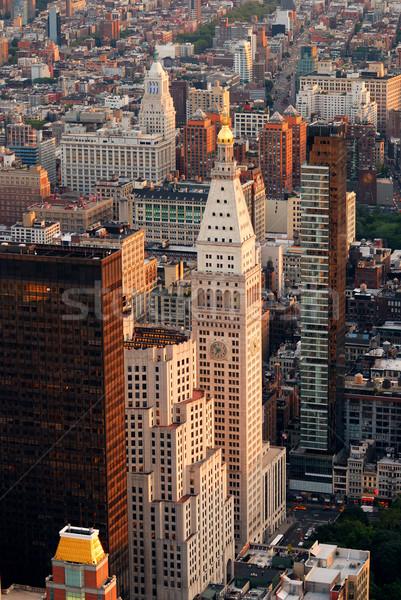Nowy Jork ulicy widok z lotu ptaka Manhattan antena panoramę Zdjęcia stock © rabbit75_sto