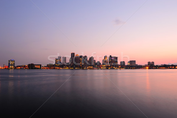 Boston centro de la ciudad panorama anochecer urbanas edificios Foto stock © rabbit75_sto