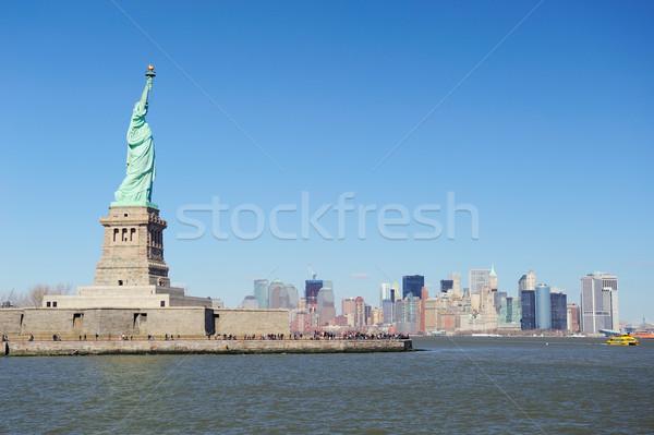 Stok fotoğraf: Heykel · özgürlük · yüzler · New · York · Manhattan · şehir · merkezinde