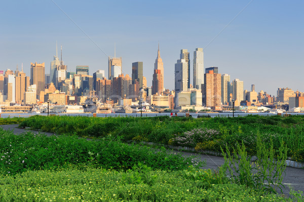 New York City Manhattan midtown skyline Stock photo © rabbit75_sto