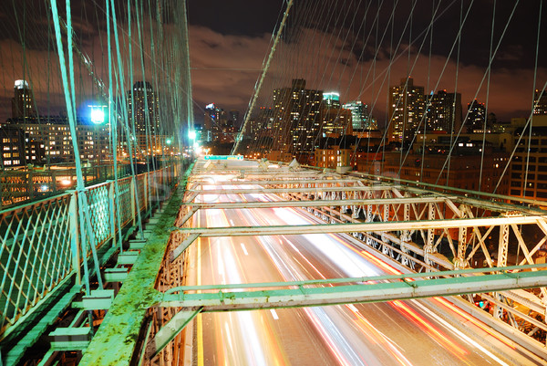 Stock photo: New York City Brooklyn Bridge