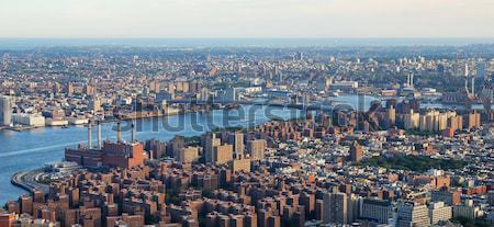 Stockfoto: New · York · City · Manhattan · rivier · luchtfoto · brug · business