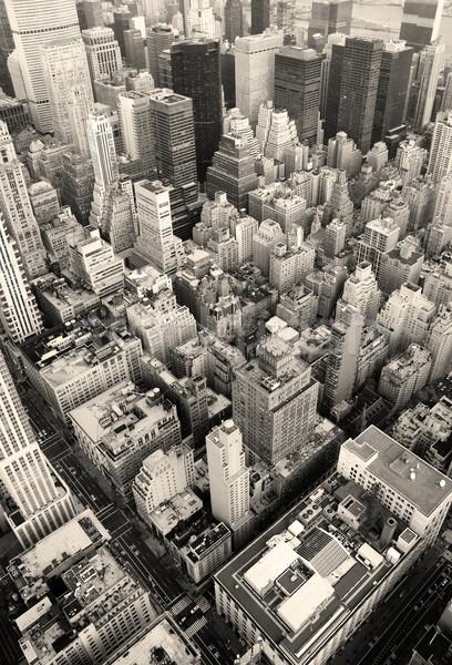 Сток-фото: Нью-Йорк · Manhattan · Skyline · черно · белые · Небоскребы